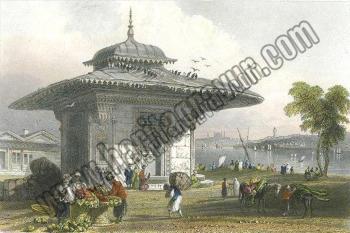 Istanbul, Fountain at Scutari, 1838, (İstanbul, Üsküdar Çeşmesi) Miss